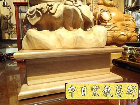 L3510.神桌佛像雕刻自在觀音木雕神像 神明貼座.JPG
