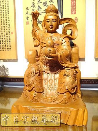 L3602.神桌神像雕刻~九天玄女木雕佛像.JPG