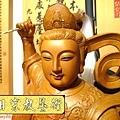 L3606.神桌神像雕刻~九天玄女木雕佛像.JPG