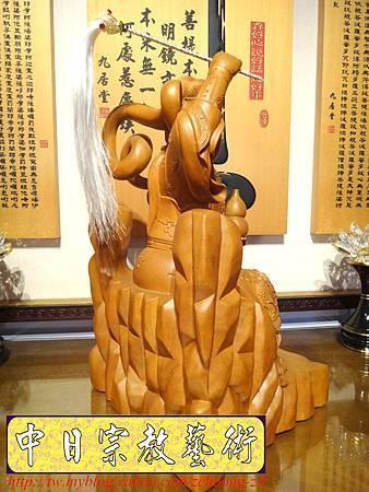 L3614.神桌神像雕刻~九天玄女木雕佛像.JPG