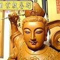 L3616.神桌神像雕刻~九天玄女木雕佛像.JPG