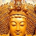 L3709.千手千眼觀音木雕佛像 神桌神像雕刻.JPG
