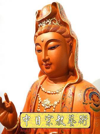 L3907.極緻神桌佛像雕刻 自在觀世音菩薩神像雕刻 極彩描金製做.JPG