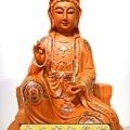 L3925.極緻神桌佛像雕刻 自在觀世音菩薩神像雕刻 極彩描金製做.JPG