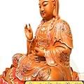 L4113.極緻神桌佛像雕刻~觀世音菩薩木雕佛像 極彩描金製做.JPG