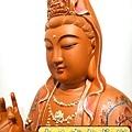 L4114.極緻神桌佛像雕刻~觀世音菩薩木雕佛像 極彩描金製做.JPG