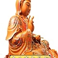 L4120.極緻神桌佛像雕刻~觀世音菩薩木雕佛像 極彩描金製做.JPG