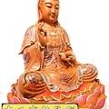 L4121.極緻神桌佛像雕刻~觀世音菩薩木雕佛像 極彩描金製做.JPG