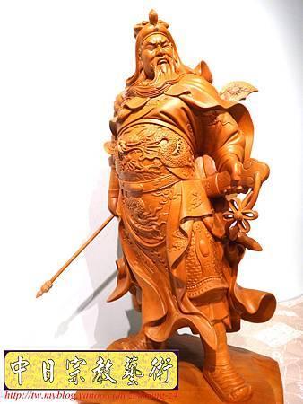 L4201.神桌神像精品雕刻~關公木雕藝品.JPG
