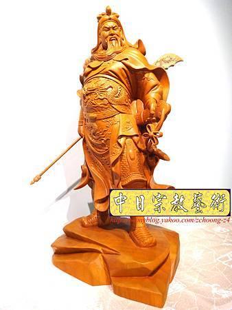 L4206.神桌神像精品雕刻~關公木雕藝品.JPG