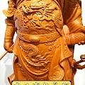 L4207.神桌神像精品雕刻~關公木雕藝品.JPG