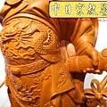 L4208.神桌神像精品雕刻~關公木雕藝品.JPG