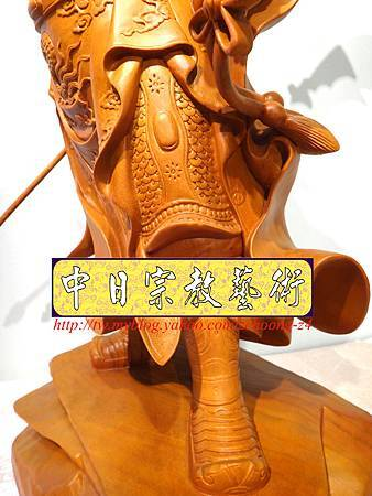 L4212.神桌神像精品雕刻~關公木雕藝品.JPG