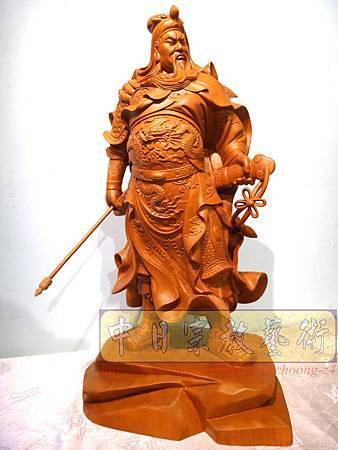 L4213.神桌神像精品雕刻~關公木雕藝品.JPG