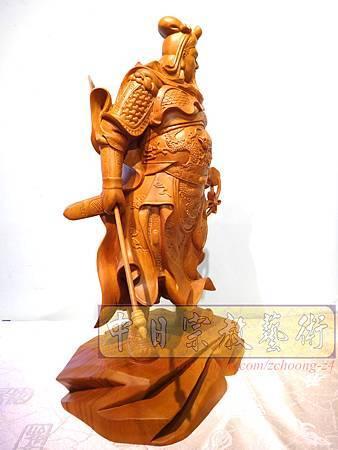 L4215.神桌神像精品雕刻~關公木雕藝品.JPG