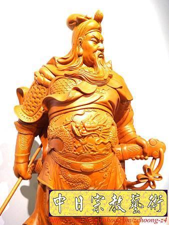 L4217.神桌神像精品雕刻~關公木雕藝品.JPG