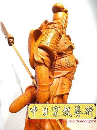 L4218.神桌神像精品雕刻~關公木雕藝品.JPG