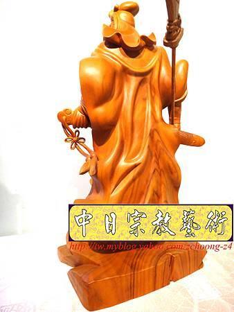 L4222.神桌神像精品雕刻~關公木雕藝品.JPG