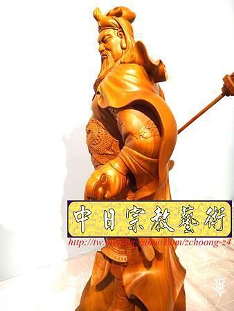 L4223.神桌神像精品雕刻~關公木雕藝品.JPG