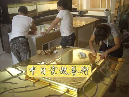K1609.貼金箔工程 機場琉璃工房.JPG