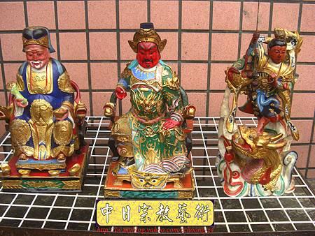 k2004.神像粉面整修福德正神 關聖帝君 中檀元帥.JPG