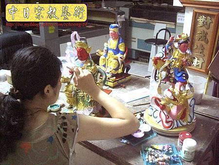 k2012.神像粉面整修福德正神 關聖帝君 中檀元帥.JPG
