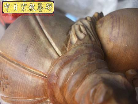 K2202.彌勒佛木雕像整修重新噴漆.JPG