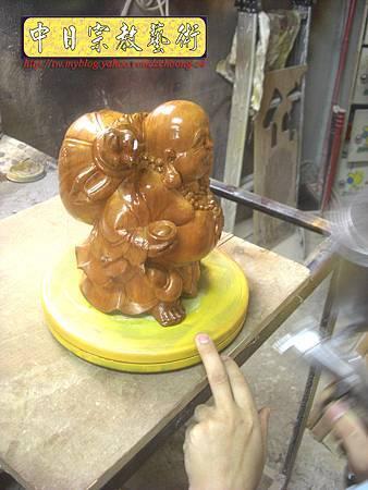 K2207.彌勒佛木雕像整修重新噴漆.JPG
