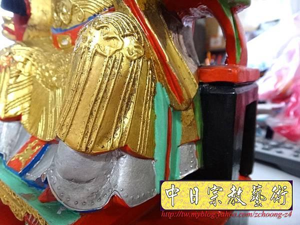 K2304.黑面媽祖神像整修貼金箔~斷指接合處裡.JPG
