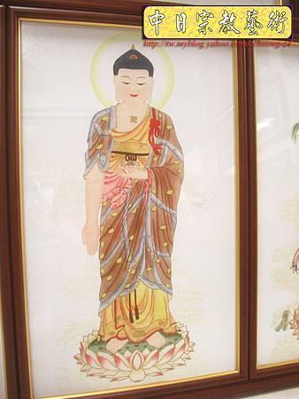 D1402.手繪神桌佛聯~西方三聖(鑲鑽版).JPG
