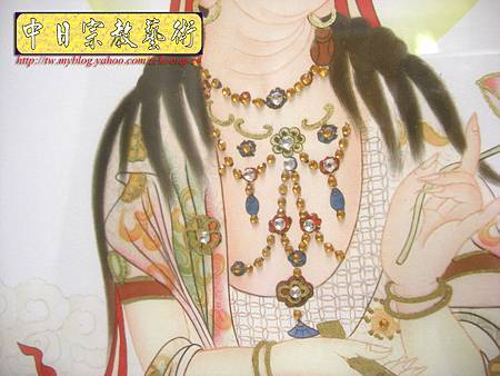 D1405.手繪神桌佛聯~西方三聖(鑲鑽版).JPG