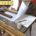 D1514.一貫道佛堂神桌神聯系列~明明上帝實木雕刻金箔字.JPG