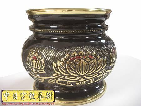 F2402.六吋二祥龍爐(仿古色) 銅製神明爐佛爐.JPG