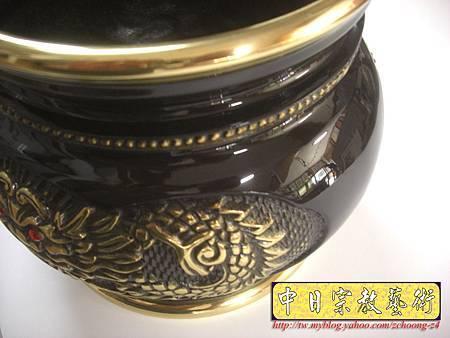 F2403.六吋二祥龍爐(仿古色) 銅製神明爐佛爐.JPG