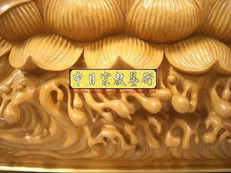 G2309.神桌佛掛佛聯~實木雕刻觀世音菩薩像(半浮雕).JPG
