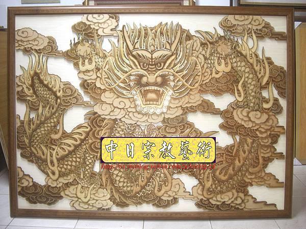 I2901.壁龍實木雕製作 宮廟寺院壁龍壁掛設計 .JPG
