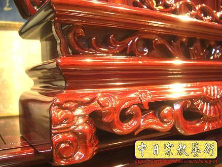 E5006.客家大牌祖先牌位雕刻 公媽龕製作.JPG