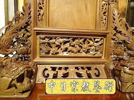 E6805.客家大牌雕刻 雙獅祖先牌位雕刻 肖楠木公媽牌製作.JPG