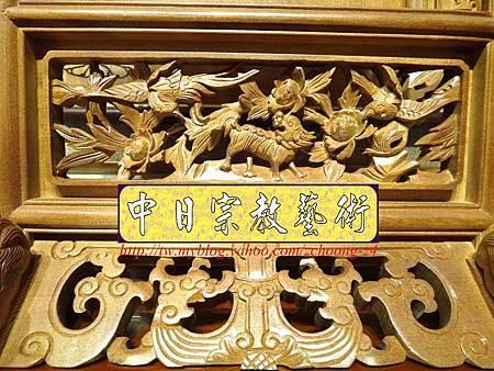 E6806.客家大牌雕刻 雙獅祖先牌位雕刻 肖楠木公媽牌製作.JPG