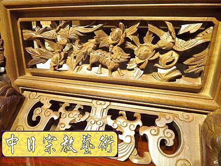 E6814.客家大牌雕刻 雙獅祖先牌位雕刻 肖楠木公媽牌製作.JPG