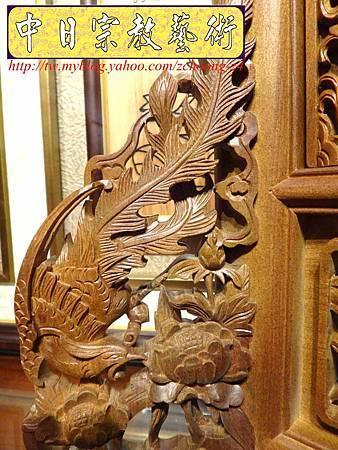 E6816.客家大牌雕刻 雙獅祖先牌位雕刻 肖楠木公媽牌製作.JPG