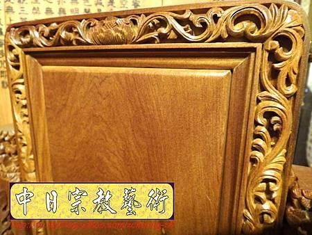 E6818.客家大牌雕刻 雙獅祖先牌位雕刻 肖楠木公媽牌製作.JPG