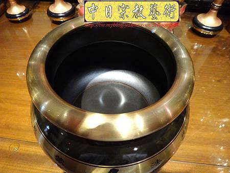 F3107.神桌佛桌佛具精品~銅器-6吋心經爐(雙色).JPG