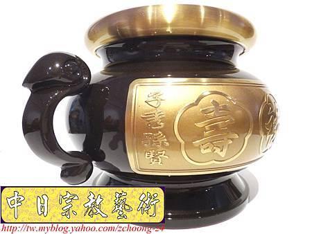 F3502.高級神桌銅器精品 公媽桌公媽爐(陽刻往生咒).JPG
