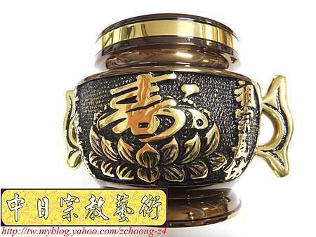 F3802.神桌香爐銅器精品~公媽爐福祿壽祖爐.JPG