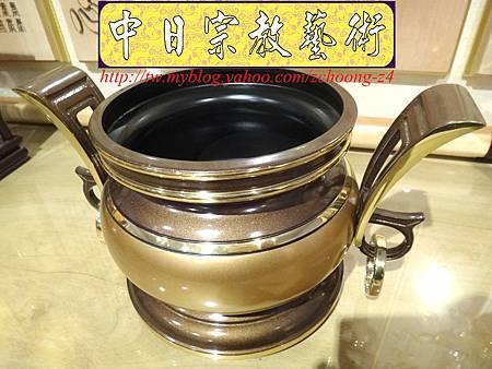 F4106.神桌香爐系列~有耳型神明爐 高級銅器.JPG
