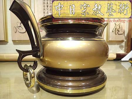F4109.神桌香爐系列~有耳型神明爐 高級銅器.JPG