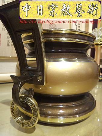F4110.神桌香爐系列~有耳型神明爐 高級銅器.JPG