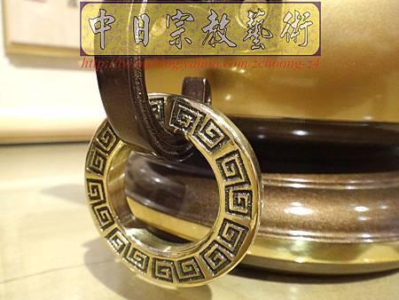 F4111.神桌香爐系列~有耳型神明爐 高級銅器.JPG