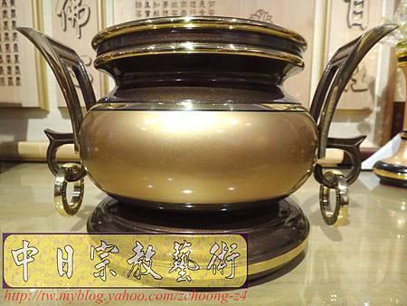 F4114.神桌香爐系列~有耳型神明爐 高級銅器.JPG